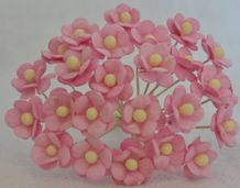 1.3cm LIGHT PINK DOUBLE-LAYERED Daisy Mulberry Paper Flowers